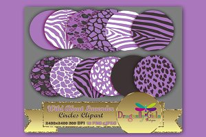 WILD About Lavender Circles Clipart