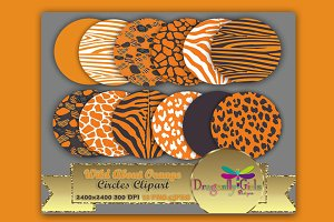 WILD About Orange Circles Clipart