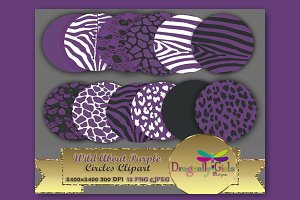 WILD About Purple Circles Clipart