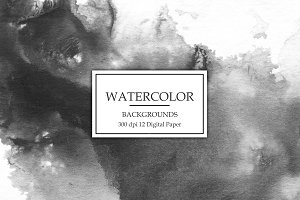 Black Watercolor Backgrounds