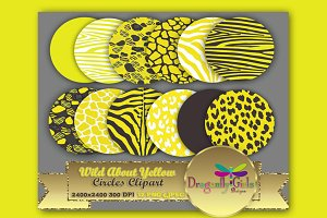 WILD About Yellow Circles Clipart