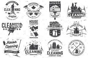 Cleaning company Badges/Logos