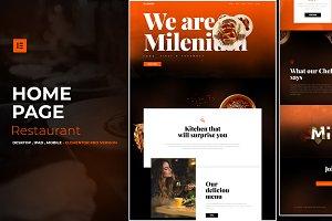 Restaurant - Elementor Pro Layout