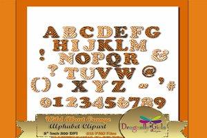 WILD About Orange Alphabet Clipart