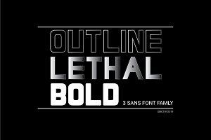 Lethal - 3 sans font family
