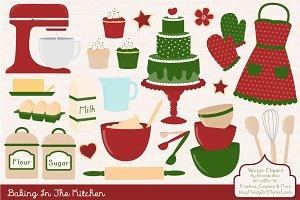 Christmas Baking Clipart & Vectors