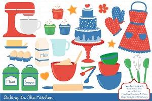 Baking Vectors & Clipart in Crayon