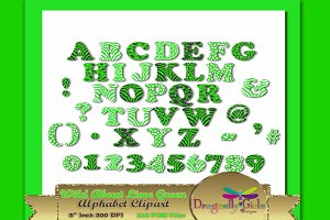 WILD About Green Alphabet Clipart