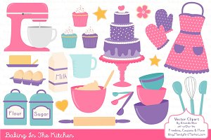 Baking In the Kitchen Clip Art