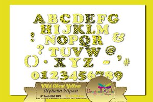 WILD About Yellow Alphabet Clipart