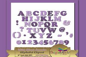 WILD About Lavender Alphabet Clipart