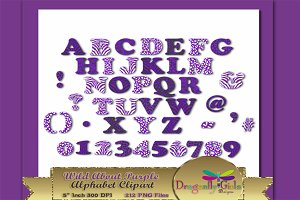 WILD About Purple Alphabet Clipart