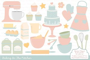 Soft Pastel Baking Clipart