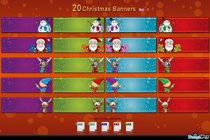20 Christmas Banners - set 1