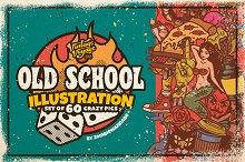 Old School Illustration Set