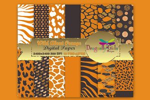 WILD About Orange Paper Pack