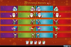 20 Christmas Banners - set 2