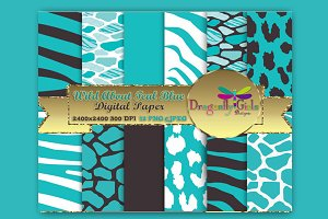 WILD About Teal Blue Paper Pack