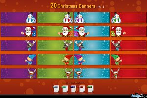 20 Christmas Banners - set 3