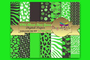 WILD About Lime Green Paper packs