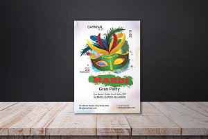 Mardi Gras Invitation Flyer - V02