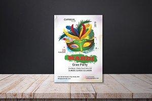 Mardi Gras Invitation Flyer - V02