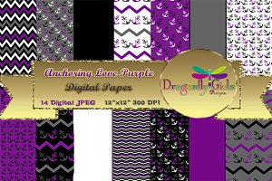 Anchoring Love Purple Paper Pack