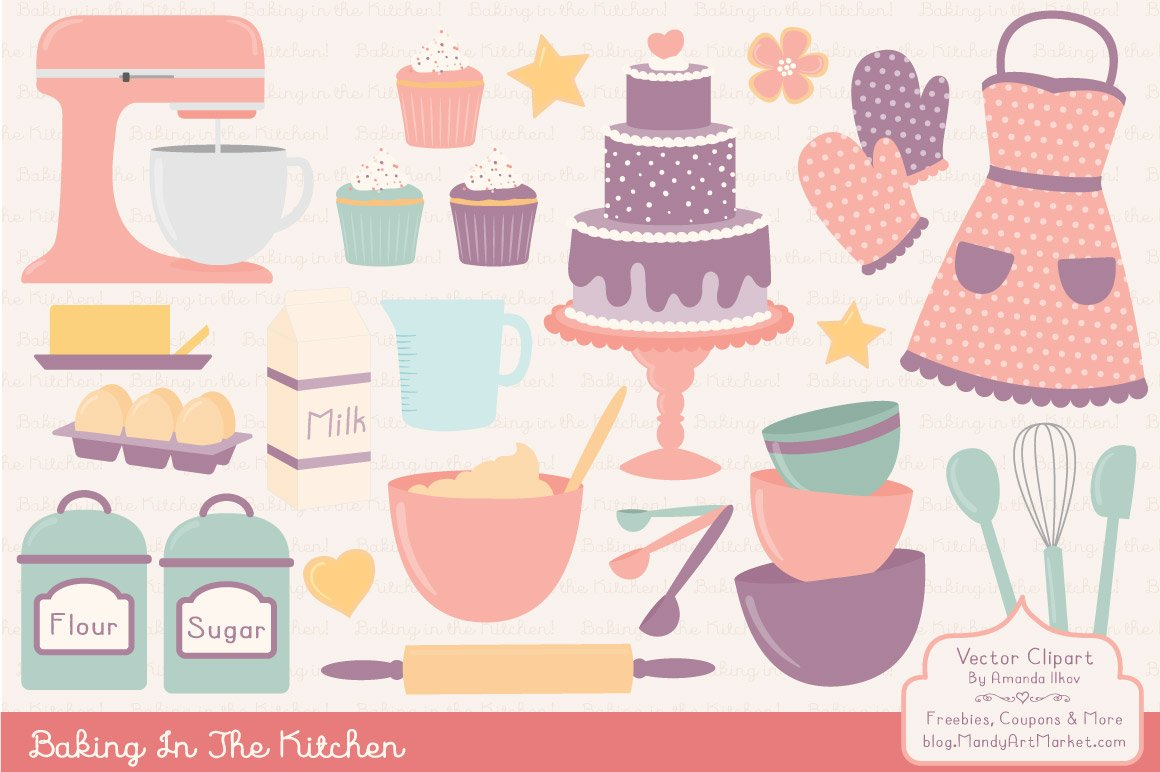 Vintage Baking Clipart & Vectors ~ Illustrations ...