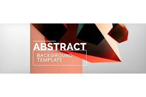 Dark color geometric abstract