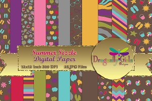 Summer Sizzle Digital Paper