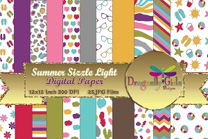 Summer Sizzle Digital Paper Light