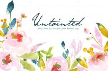 Untainted - Watercolor Clip Art
