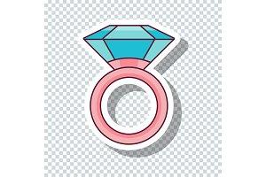 Dimond ring sticker