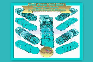WILD About Teal Blue Label Clipart