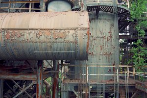 Rusty Factory Pipes