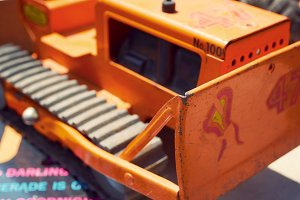 Track Wheel Bulldozer Toy