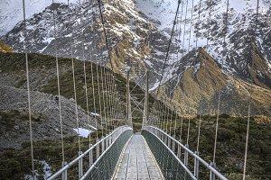 Suspension Bridge, New Zealand