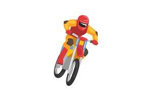 Man Riding Motorbike, Motorcyclist