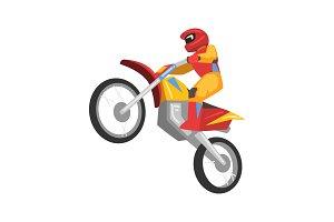 Sportsman Riding Motorbike