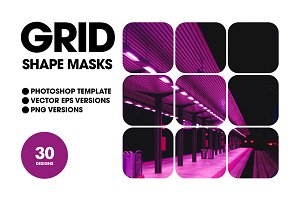 Grid Shape Masks - Bitmap & Vector