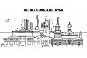 Russia, Altai, Gorno-Altaysk. City