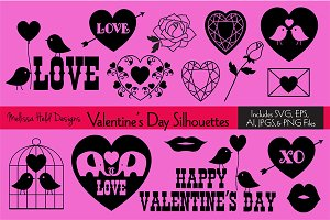 Valentine's Day Silhouettes