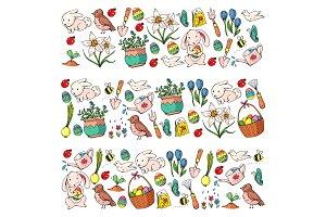 Easter vector illustration. Spring