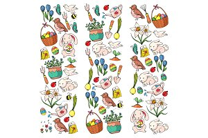 Easter vector illustration. Spring