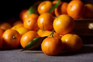 selective focus of tasty orange tang