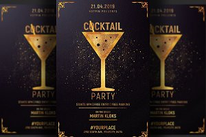 Cocktail Party Flyer Invitation