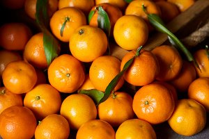 selective focus of sweet orange tang