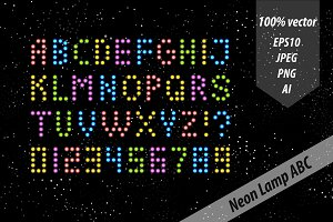 Neon lamp letters and numbers