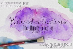 Watercolor Texture Vol. #1