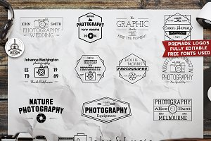 12 Photography Premade Logos Badges